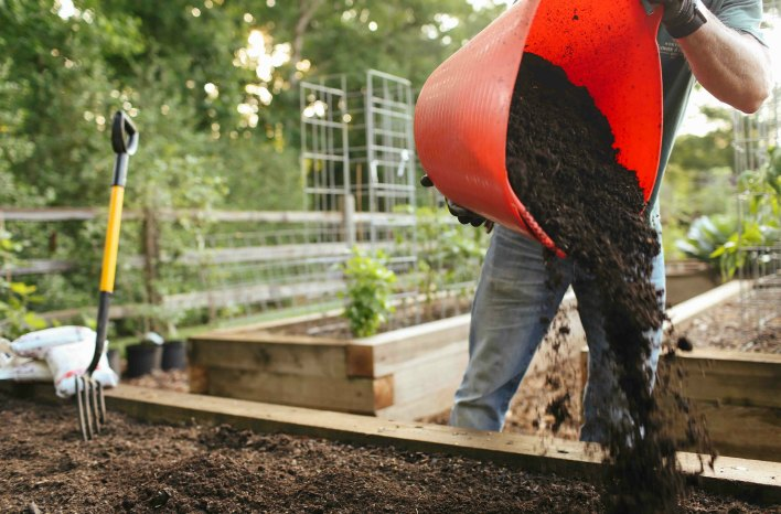 Adding minerals to make great soil