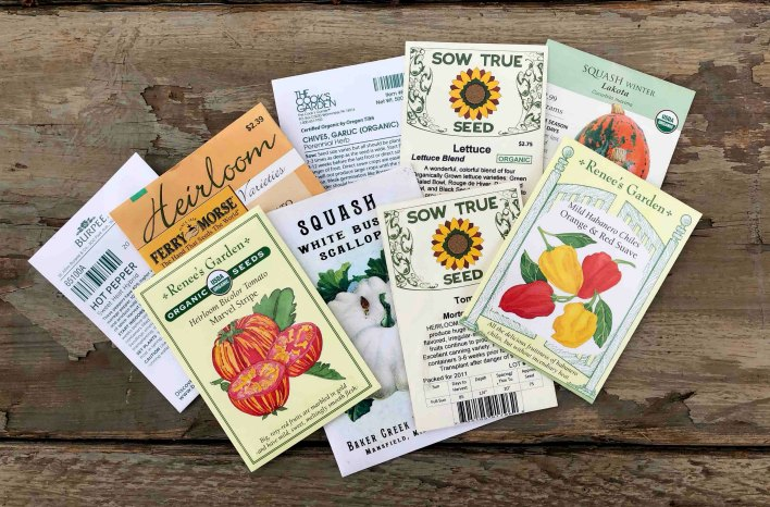 assorted seed packets