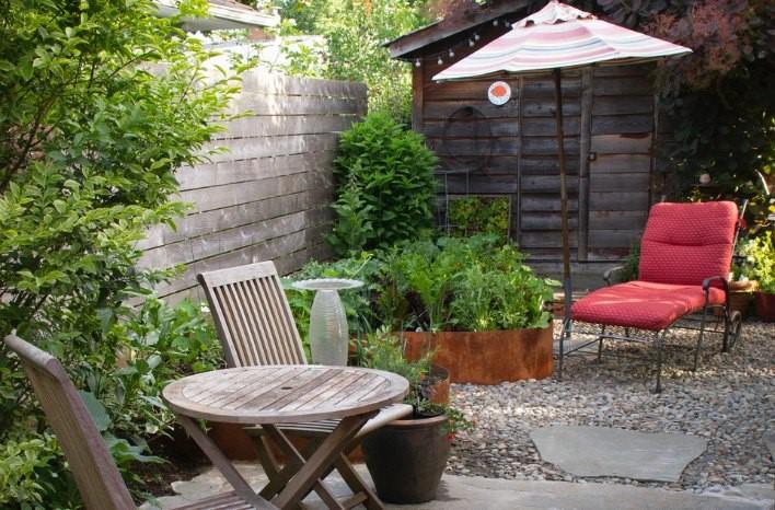 Small Space Garden Design Tips Less is More joe gardener