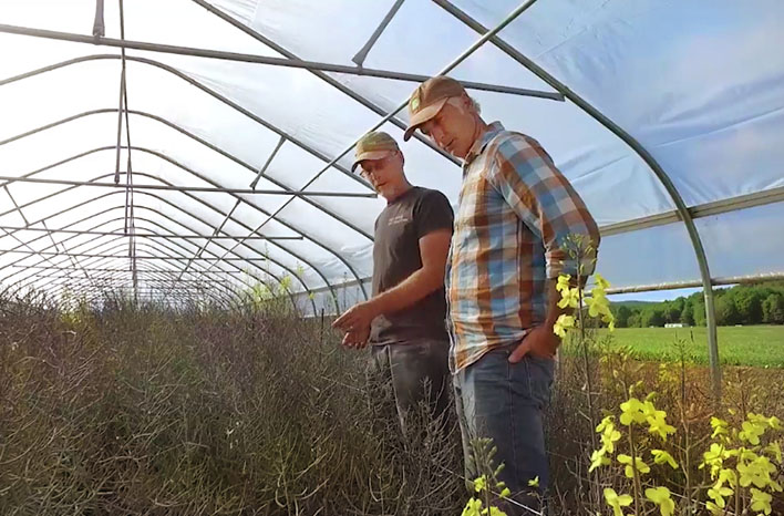 Joe Lamp'l and Tom Stearns at High Mowing Seed Company