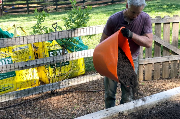 tubtrug loaded with compost