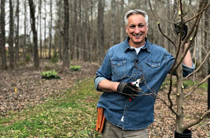 Joe Lamp'l with pruners