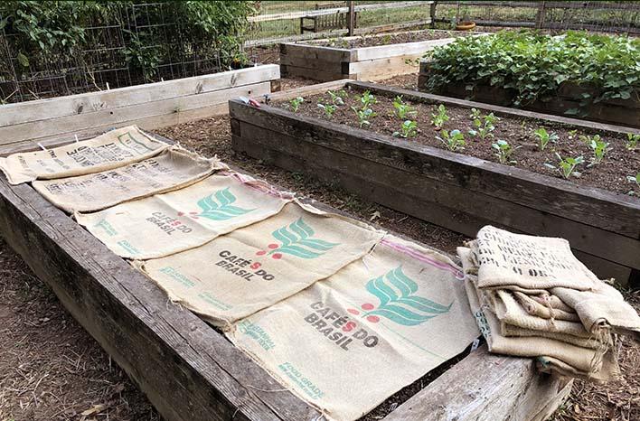 top takeaways burlap at the GardenFarm