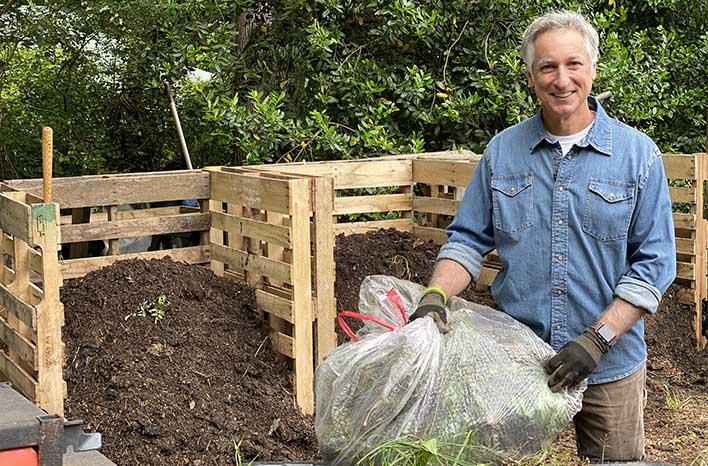 Joe Lamp'l and compost