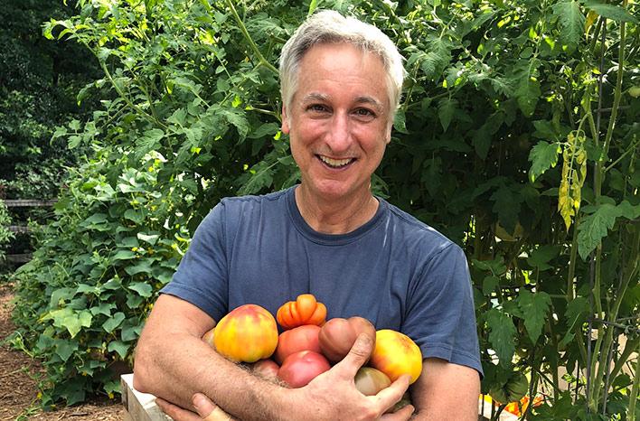 Joe Lamp'l with tomatoes