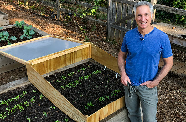 Joe with cold frame