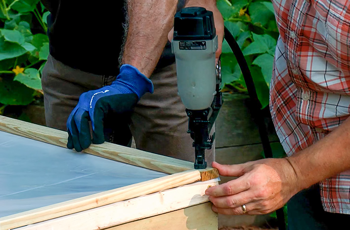 Adding trim to cold frame