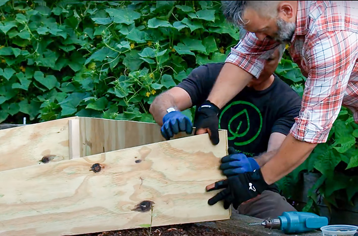 Assembling a cold frame