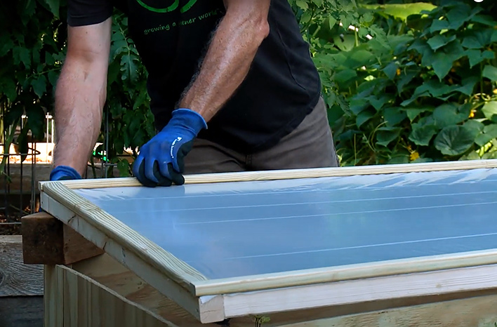 Lid of cold frame