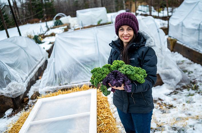 Niki Jabbour holding kale