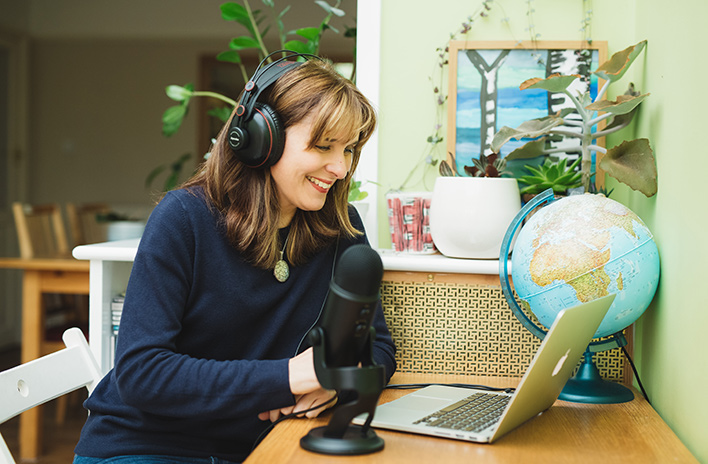 Jane Perrone podcasting