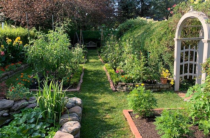John and Maureen Lalley's garden