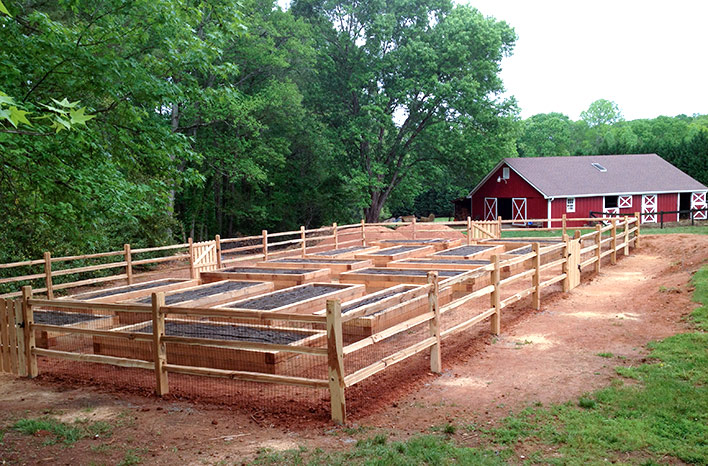 cedar raised beds at the GardenFarm are an example of raised bed gardening