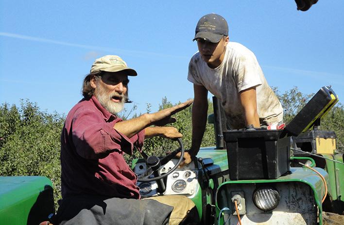 Jim Gerritsen on tractor