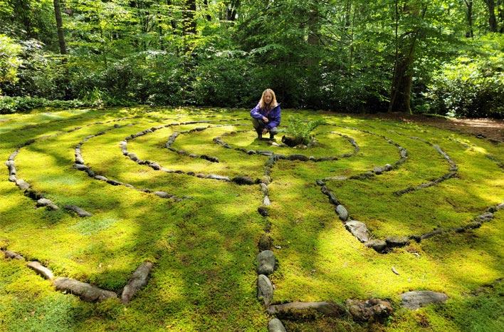 Moss labyrinth